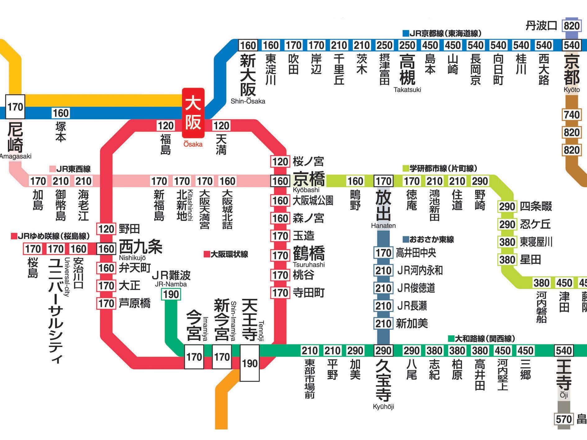 地図式運賃標部分