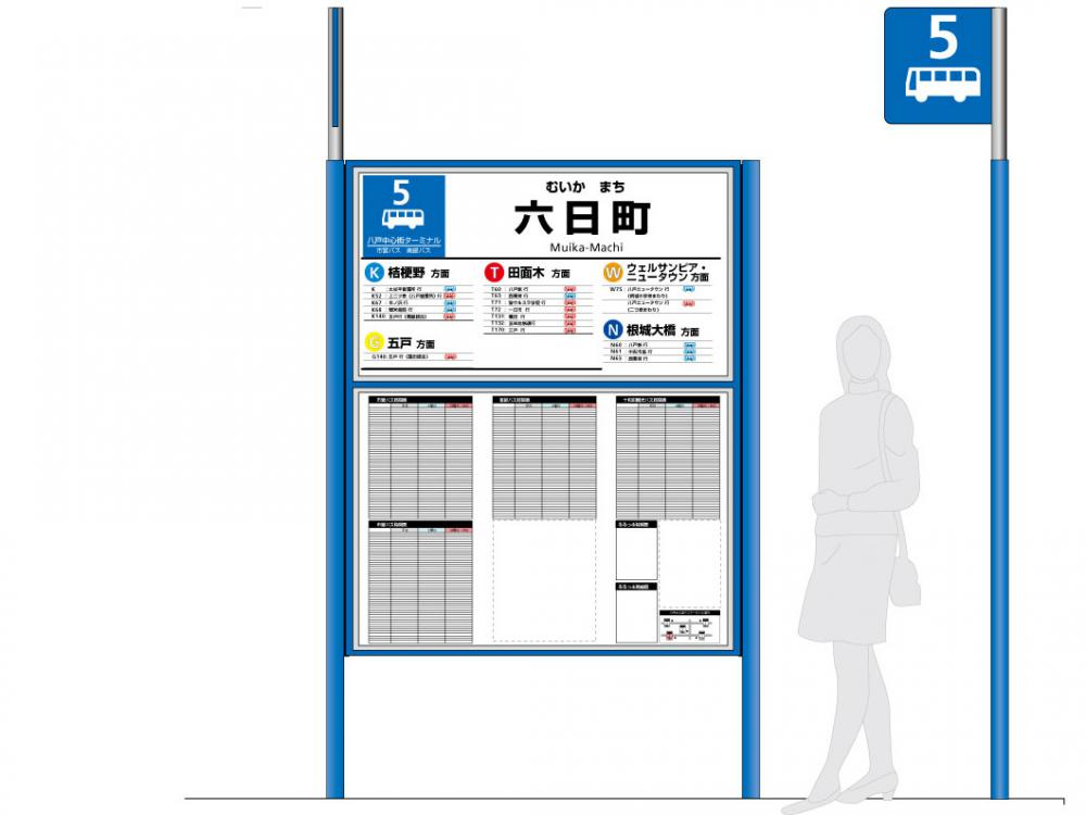 Case study of a large scale bus stop
